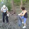 Limpieza en las costas del Río Santa Rosa
