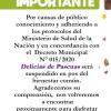 #SantaRosa: Suspendido «Delicias de Pascua»