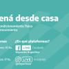 #EntenáEnCasa: Rutinas por facebook que ofrece la secretaría de Deporte de la Nación