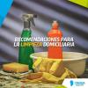 Recomendaciones para la limpieza domiciliaria