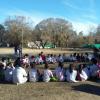 Almuerzo familiar en la escuela L.M.Drago de Santa Rosa