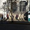 #SantaRosa: Cabina de sanitización en el ingreso al Banco Córdoba