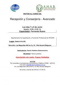 Invitacion curso recepcion y conserjeria 2017-1