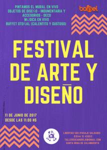 afiche festival de arte y diseño