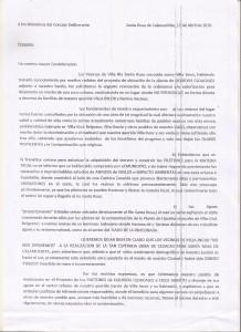 carta vecinos VI
