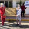 #Calamuchita: Jornada de protesta en la puerta del Hospital Eva Perón