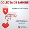 El Hospital Eva Perón realizará una colecta de sangre