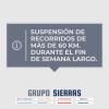 #SierrasDeCalamuchita suspende recorridos de más de 60 km de distancia