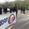 #SantaRosa: Choferes autoconvocados se manifestaron en uno de los ingresos